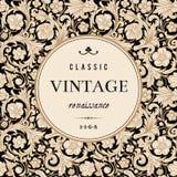 Tarjeta del vector del vintage en estilo barroco clásico. ilustración del vector