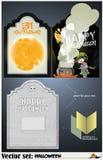 Tarjeta del vector en un tema de Halloween Fotografía de archivo