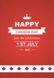 Tarjeta del vector para el día de Canadá Imagenes de archivo