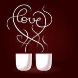 Tarjeta del vector para el día de tarjetas del día de San Valentín Fotos de archivo libres de regalías