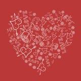 Tarjeta del vector para el día del ` s de la tarjeta del día de San Valentín Fotografía de archivo
