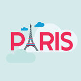Tarjeta del viaje de París Foto de archivo