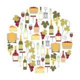 Tarjeta del vino Fotografía de archivo