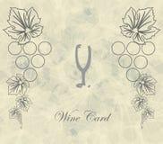 Tarjeta del vino con el restaurante de cristal abstracto del menú Ilustración del Vector