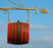 Tarjeta del vino-sótano Foto de archivo libre de regalías
