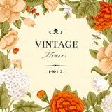 Tarjeta del vintage con las flores. libre illustration