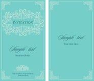 Tarjeta del vintage de la invitación de la boda con los elementos decorativos florales y antiguos Imagenes de archivo