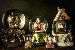 Tarjeta del vintage de la Navidad Imagen de archivo libre de regalías