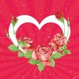 Tarjeta del vintage del día de tarjeta del día de San Valentín Fotografía de archivo libre de regalías