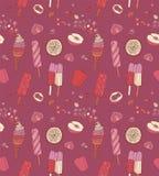 Tarjeta del vintage del helado, vector Foto de archivo libre de regalías