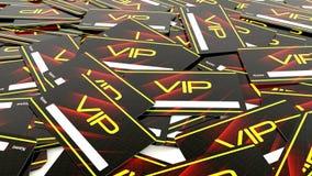 Tarjeta del Vip Fotos de archivo libres de regalías