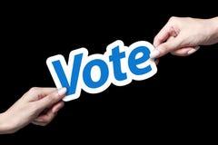 Tarjeta del voto Fotografía de archivo