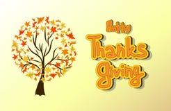 Tarjeta dibujada mano de la acción de gracias Imágenes de archivo libres de regalías