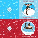 Tarjeta divertida de la Feliz Navidad Fotos de archivo