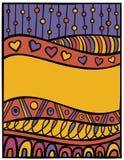 Tarjeta divertida de la tarjeta del día de San Valentín Foto de archivo libre de regalías