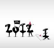 Tarjeta divertida del Año Nuevo Imágenes de archivo libres de regalías
