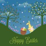 Tarjeta divertida Pascua feliz stock de ilustración