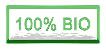 Tarjeta el 100% bio stock de ilustración