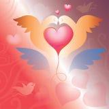 Tarjeta el día de tarjeta del día de San Valentín. ejemplo del vector Fotografía de archivo libre de regalías