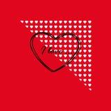 Tarjeta el el día de tarjeta del día de San Valentín Fotos de archivo