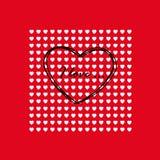 Tarjeta el el día de tarjeta del día de San Valentín Imagenes de archivo