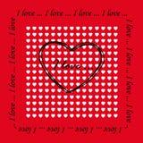 Tarjeta el el día de tarjeta del día de San Valentín Foto de archivo libre de regalías