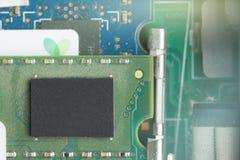 tarjeta electrónica Pequeña profundidad del campo Llamarada de la lente Colorize Ima imagen de archivo