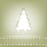 Tarjeta elegante con el árbol de navidad. EPS 8 Imágenes de archivo libres de regalías