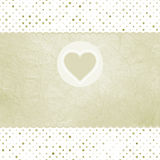 Tarjeta elegante de la tarjeta del día de San Valentín con el corazón.   Imagenes de archivo