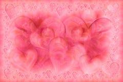 Tarjeta elegante de los corazones Foto de archivo