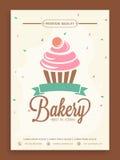 Tarjeta elegante del aviador o del menú para la tienda de la panadería Foto de archivo libre de regalías