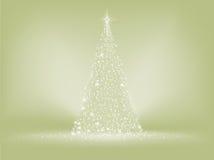 Tarjeta elegante del árbol de navidad. EPS 8 Imagen de archivo libre de regalías