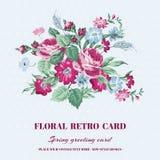 Tarjeta elegante lamentable floral Fotos de archivo