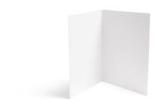 Tarjeta en blanco Fotografía de archivo libre de regalías