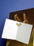 Tarjeta en blanco Fotos de archivo