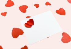 Tarjeta en blanco Imagen de archivo libre de regalías