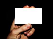 Tarjeta en blanco Imagen de archivo
