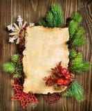 Tarjeta en blanco de la Navidad Fotos de archivo