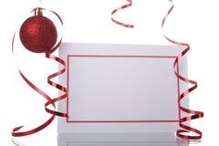 Tarjeta en blanco de la Navidad Foto de archivo