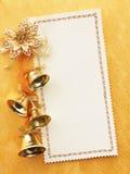 Tarjeta en blanco de la Navidad del oro Imágenes de archivo libres de regalías