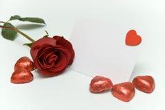 Tarjeta en blanco de las tarjetas del día de San Valentín Fotos de archivo libres de regalías