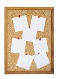 Tarjeta en blanco del corcho Foto de archivo libre de regalías