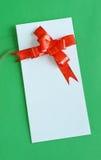 Tarjeta en blanco del regalo Imagen de archivo libre de regalías