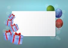 Tarjeta en blanco del regalo Imagenes de archivo
