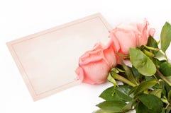 Tarjeta en blanco para la enhorabuena Fotos de archivo libres de regalías