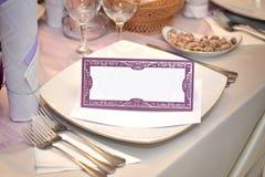 Tarjeta en blanco Wedding Foto de archivo