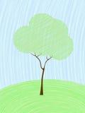 Tarjeta en colores pastel del árbol Imagen de archivo