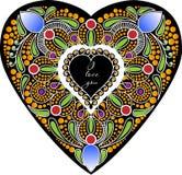 Tarjeta en la forma del corazón Foto de archivo libre de regalías