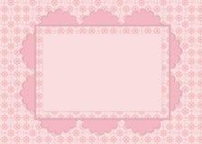 Tarjeta en modelo rosado Imagenes de archivo