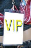 Tarjeta entre bastidores del paso del Vip Fotografía de archivo libre de regalías
